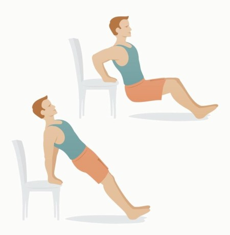 Triceps dip on chair