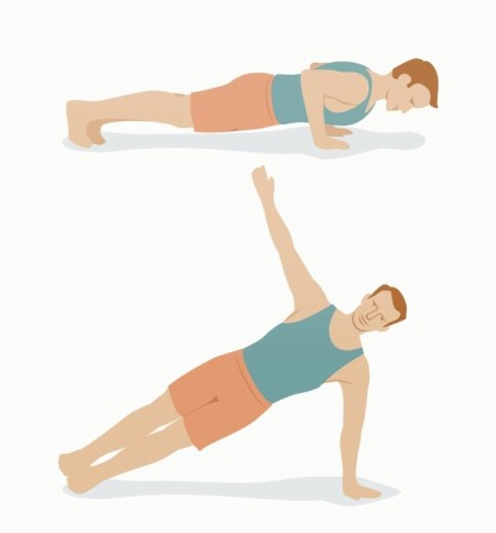 Push-up and rotation