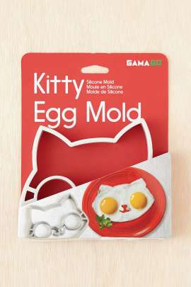 Turn boring old eggs into kitty art with this egg mold.
