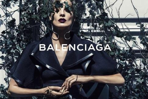 Daria Werbowy Balenciaga Spring-Summer 2014