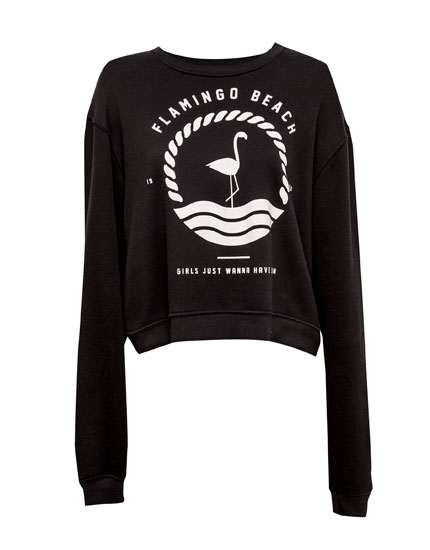 flamingo beach sweat